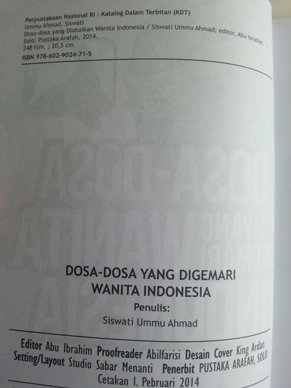 Buku Dosa-Dosa Yang Digemari Wanita Indonesia isi