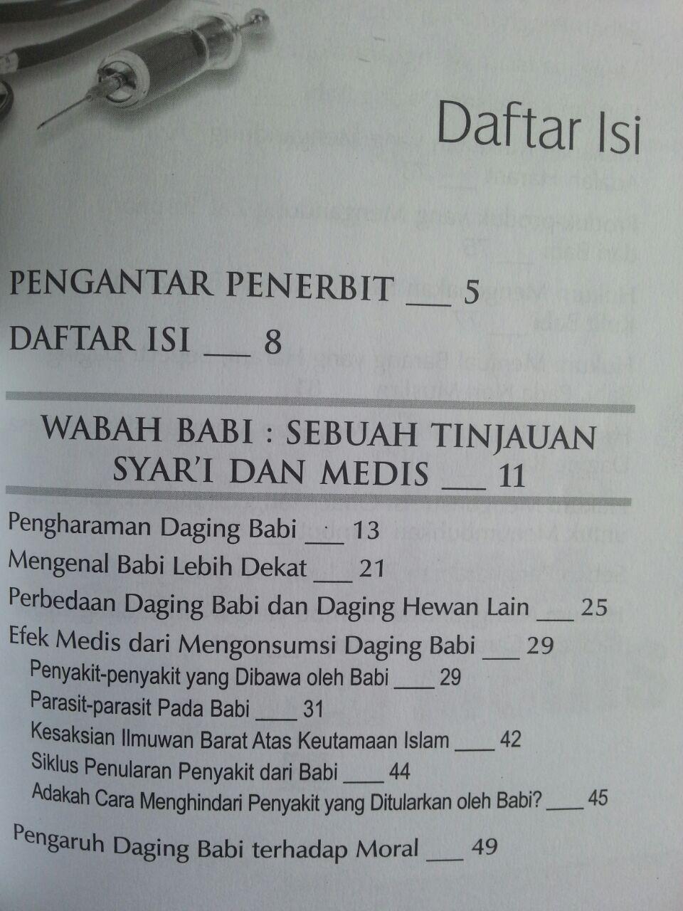 Buku Heboh Wabah Babi Mendeteksi Berbagai Penyakit Dalam Babi isi