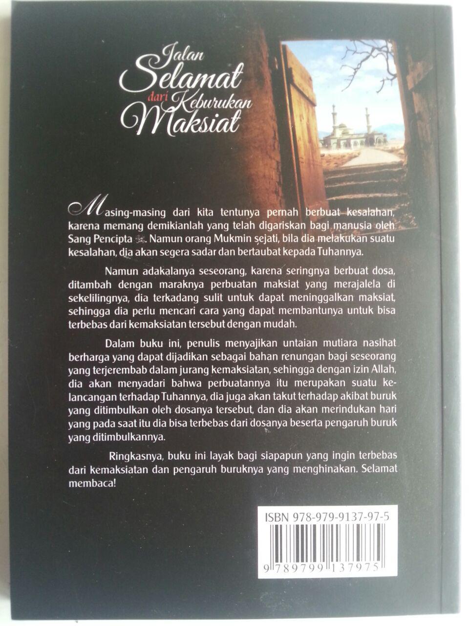 Buku Jalan Selamat Dari Keburukan Maksiat cover