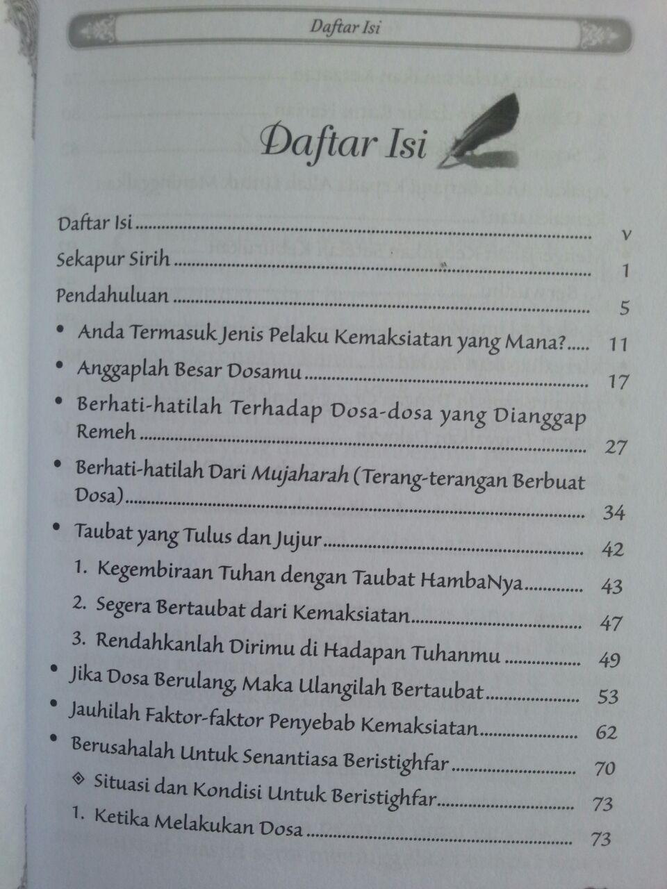 Buku Jalan Selamat Dari Keburukan Maksiat isi 2