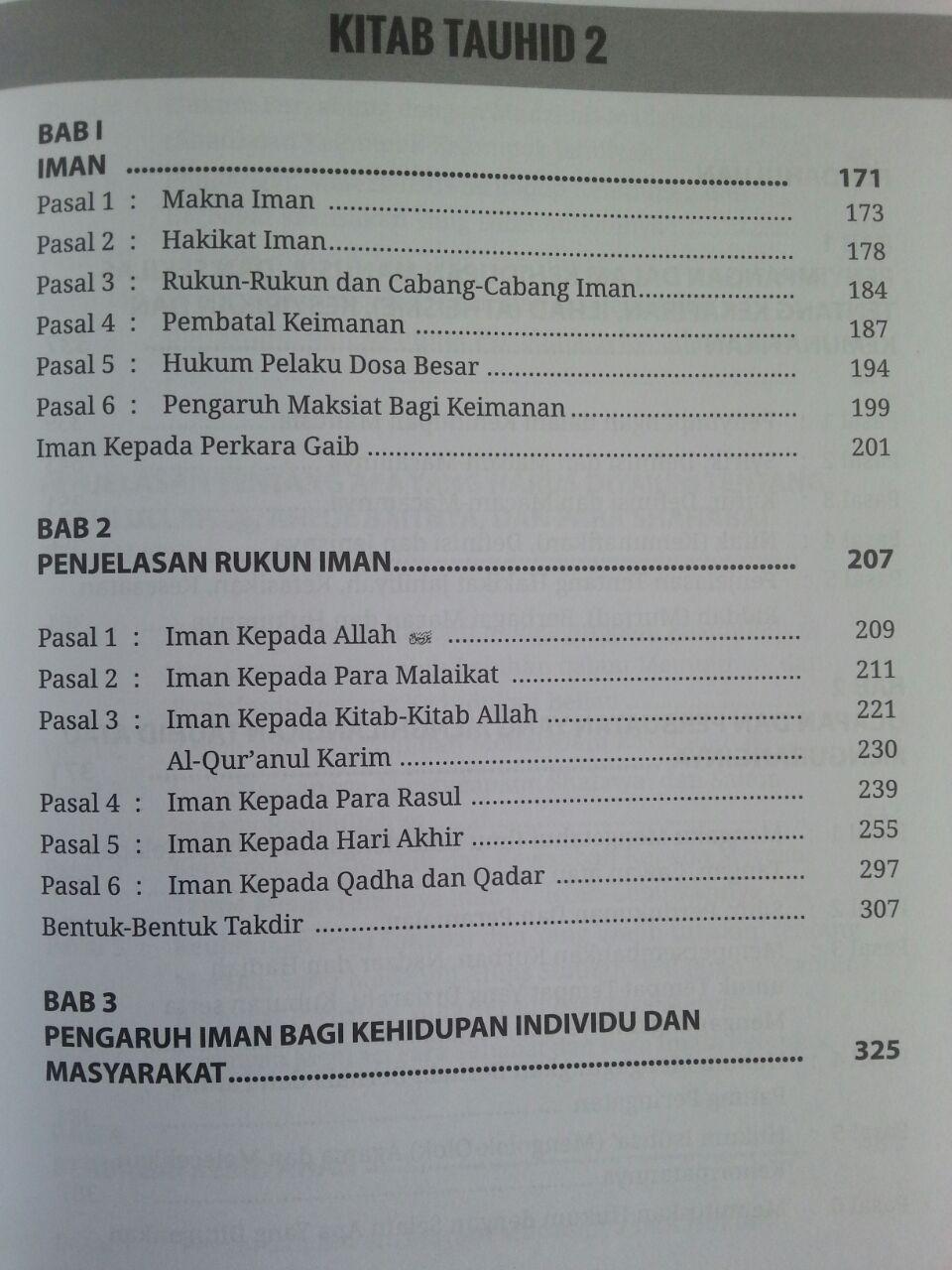 Buku Kitab Tauhid Syaikh Fauzan isi 3
