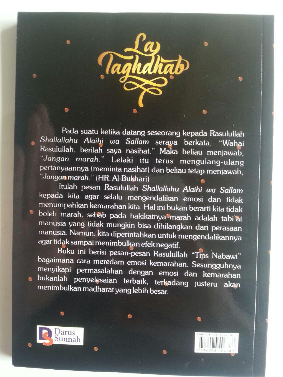 Buku La Taghdhab Metode Nabi Dalam Mengobati Marah cover