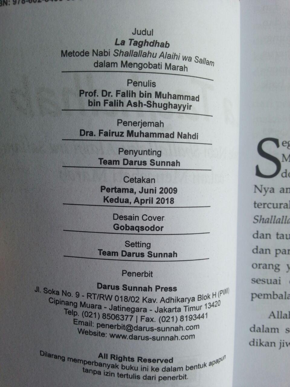 Buku La Taghdhab Metode Nabi Dalam Mengobati Marah isi 2