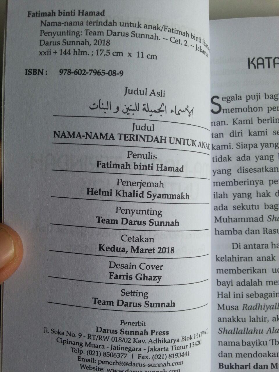 Buku Nama-Nama Terindah Untuk Anak isi 2