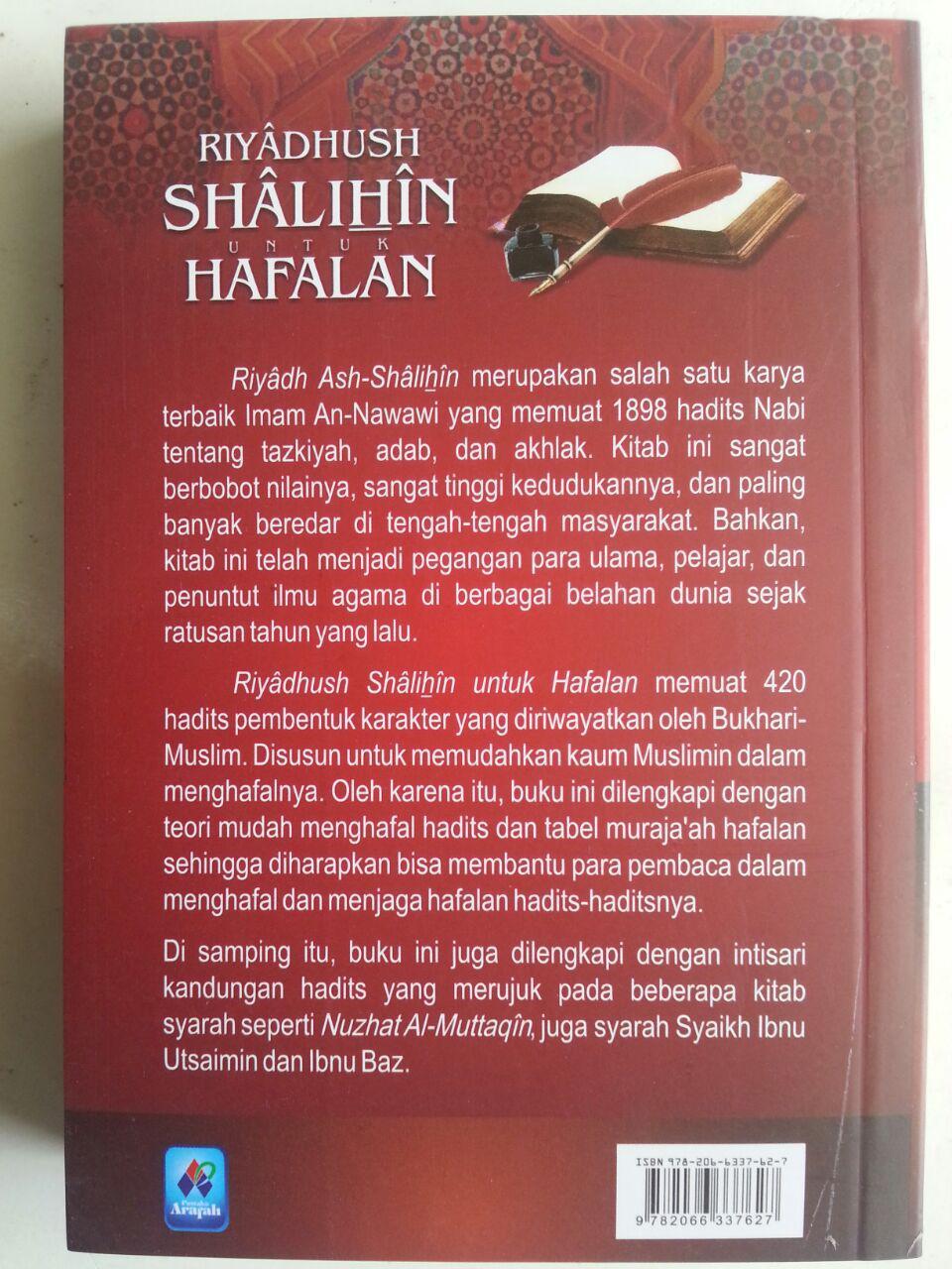 Buku Riyadhus Shalihin Untuk Hafalan 420 Hadits Pembentuk Karakter cover