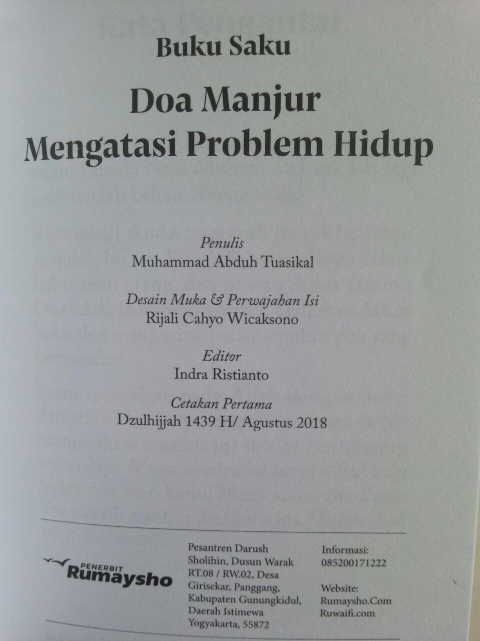 Buku Saku Doa Manjur Mengatasi Problem Hidup isi 2