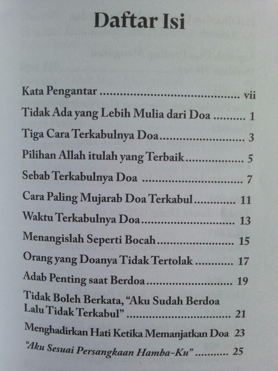 Buku Saku Doa Manjur Mengatasi Problem Hidup isi
