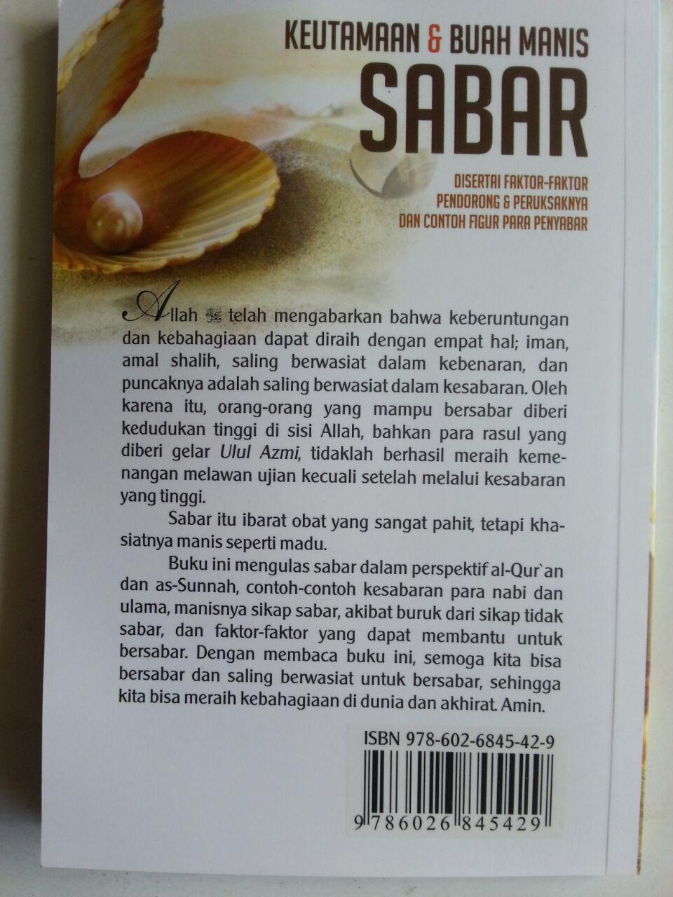 Buku Saku Keutamaan Dan Buah Manis Sabar cover