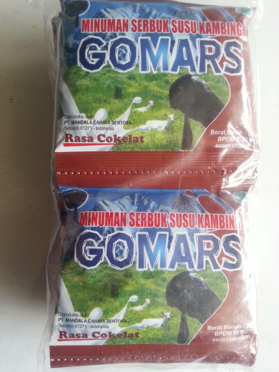 Minuman Serbuk Susu Kambing Gomars Rasa Cokelat 10 Pcs cover
