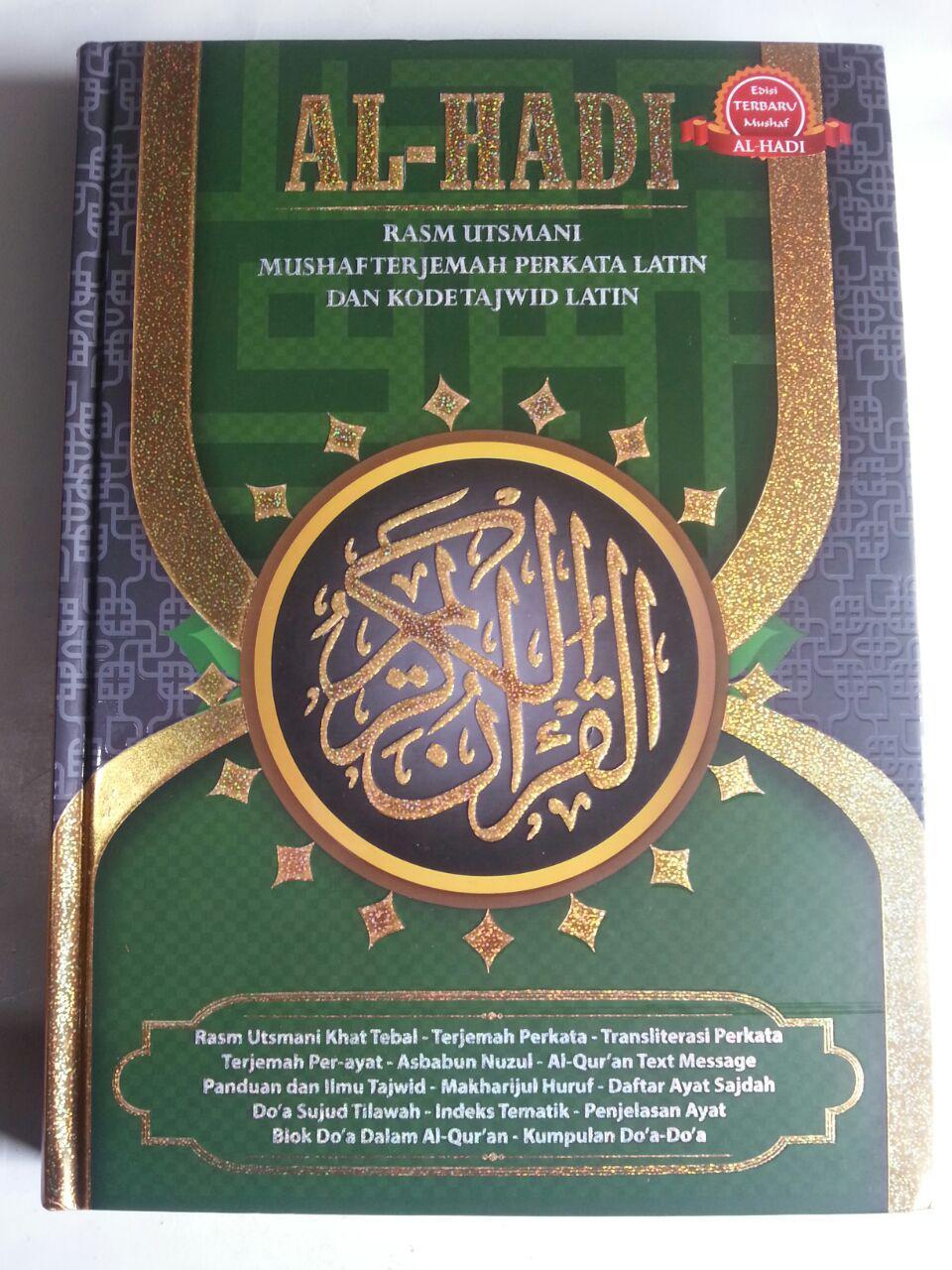 Al-Qur'an Al-Hadi Rasm Utsmani Mushaf Terjemah Perkata Tajwid A4 cover 2