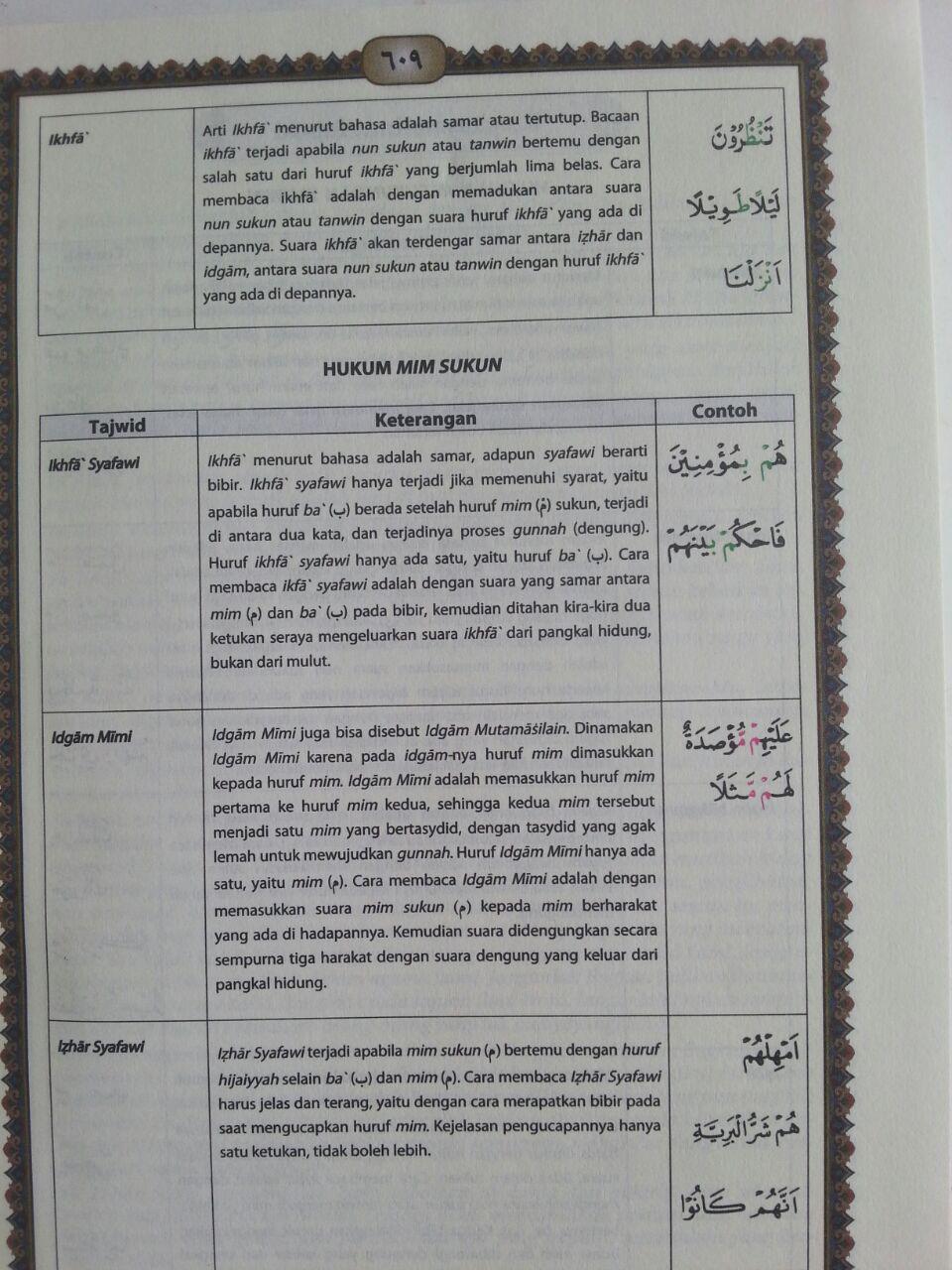 Al-Qur'an Mushaf Utsmani Tajwid Al-Amzar Ukuran A5 isi 2