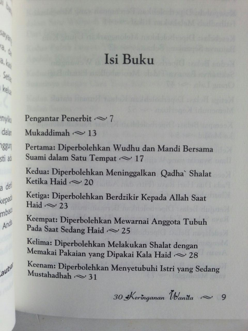 Buku 30 Keringanan Wanita Menurut Syariat isi 2