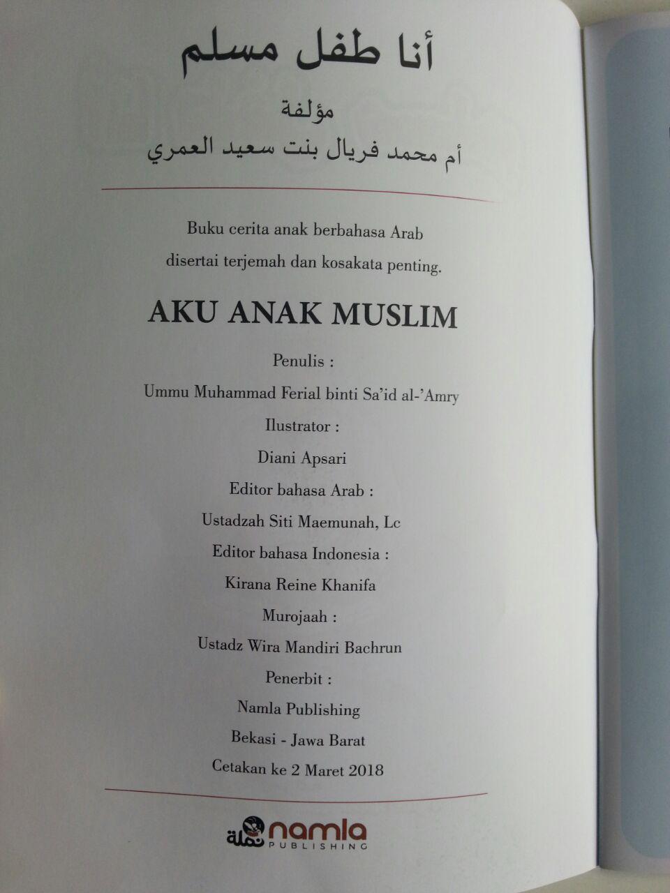 Buku Aku Anak Muslim Cerita Anak Berbahasa Arab Terjemah isi 2