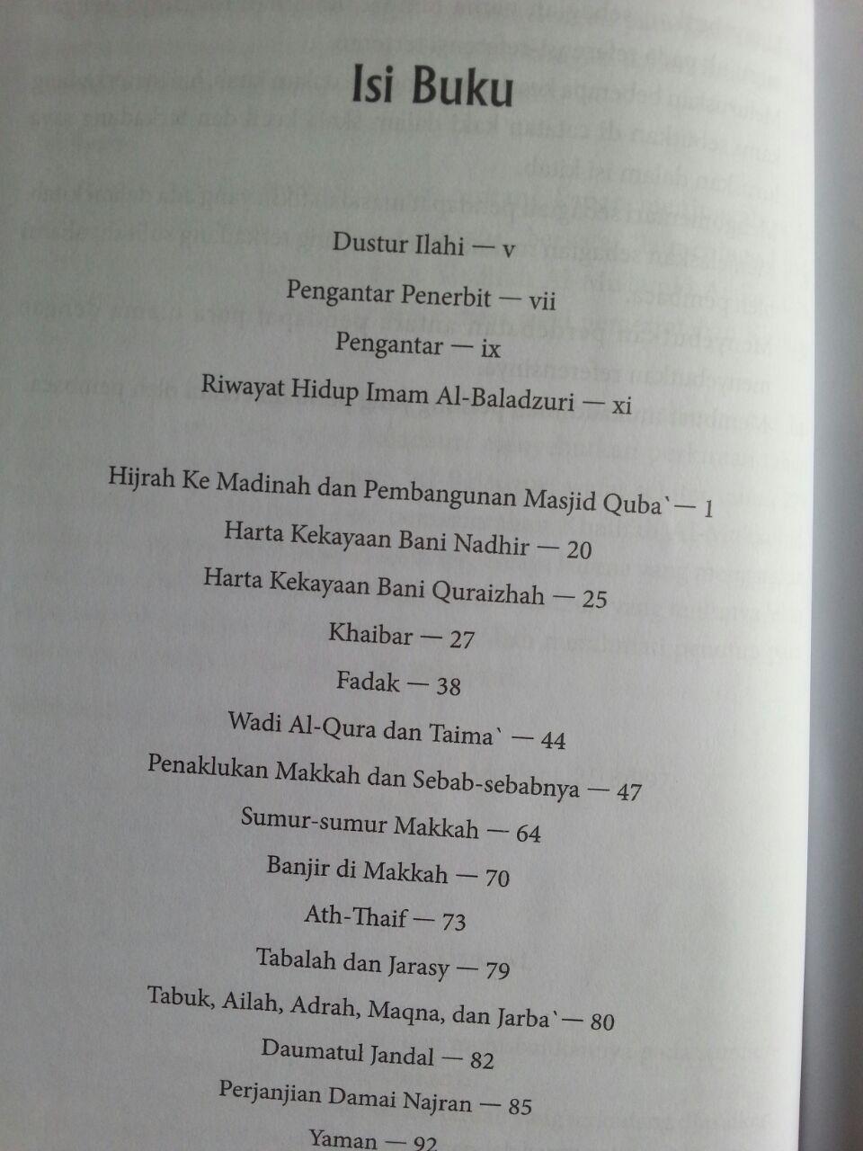 Buku Futuhul Buldan Penaklukkan Negeri Dari Makkah Sampai Sind isi