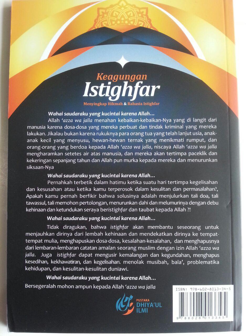 Buku Keagungan Istighfar Menyingkap Hikmah Dan Rahasia cover