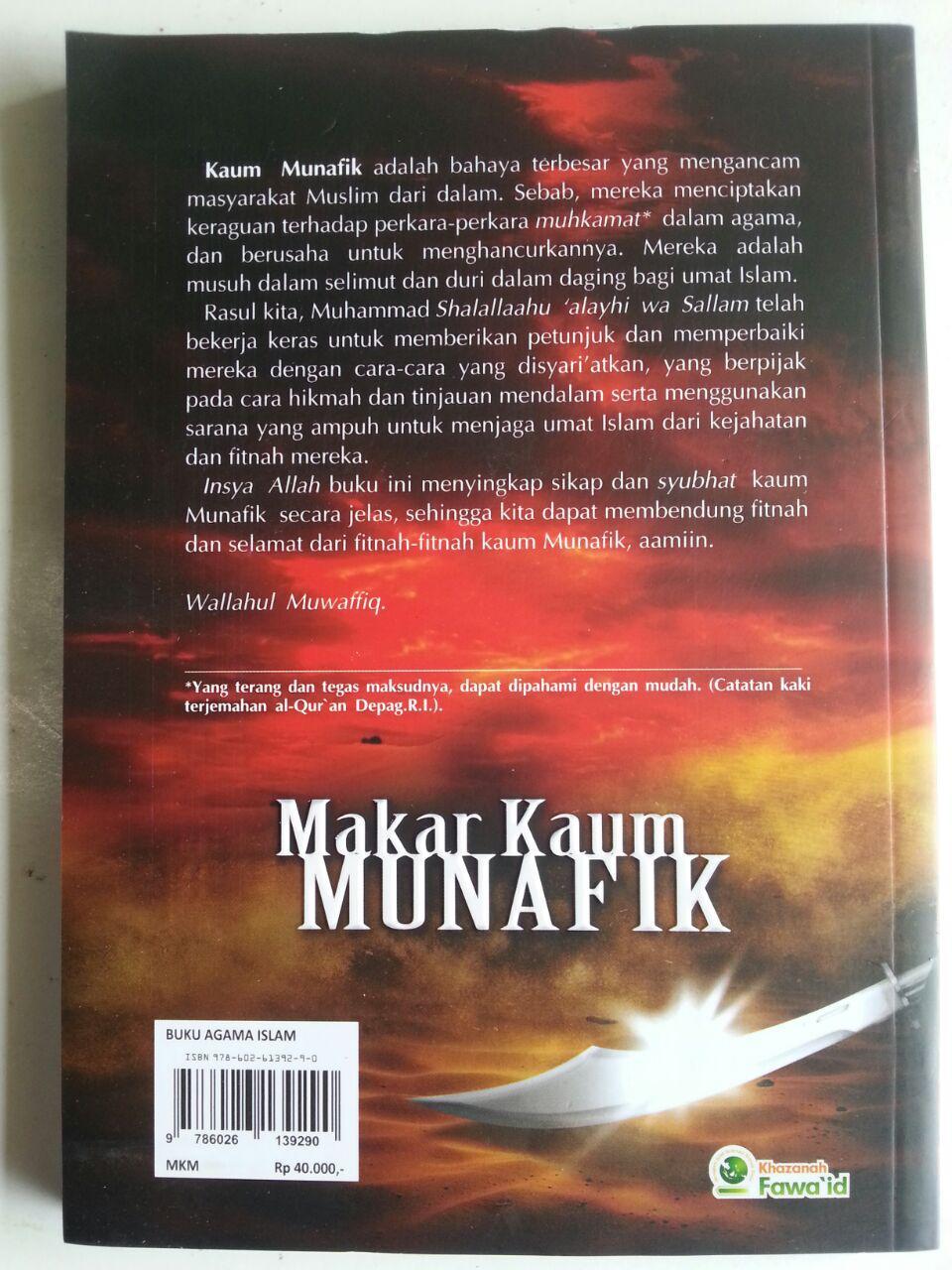 Buku Makar Kaum Munafik Kiat Rasul Bermuamalah Dengan Munafik cover
