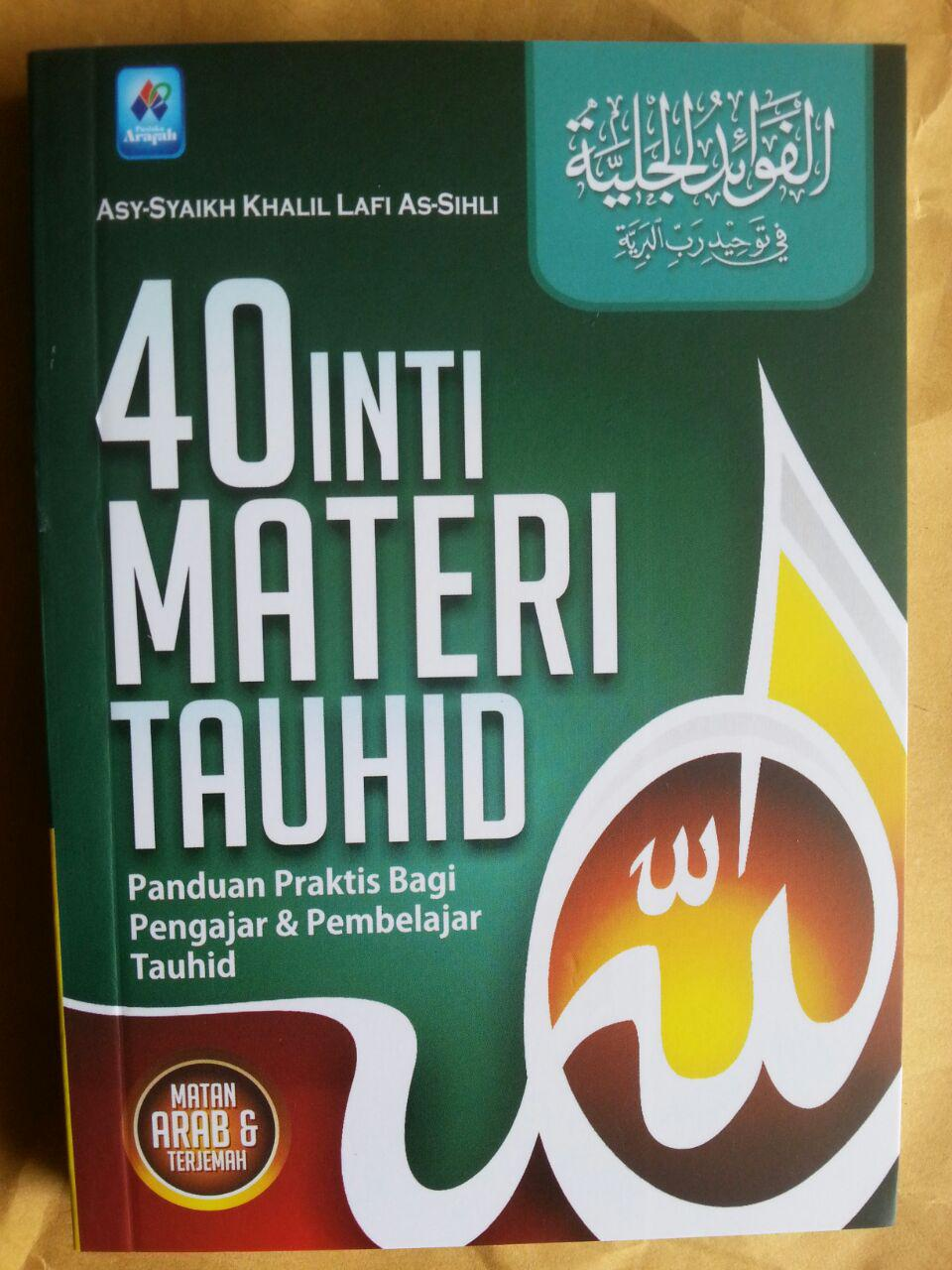 Buku 40 Inti Materi Tauhid Panduan Praktis Pengajar Pembelajar cover 2