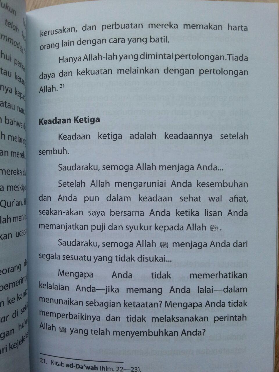 Buku Laa Ba'sa Bihi Berbahagialah Orang Yang Sakit isi 3