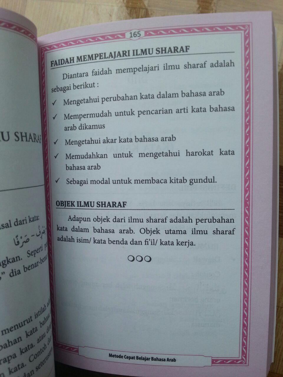 Buku Metode Cepat Belajar Bahasa Arab Rumus El-Matroed Kompilasi 1-2 isi 4