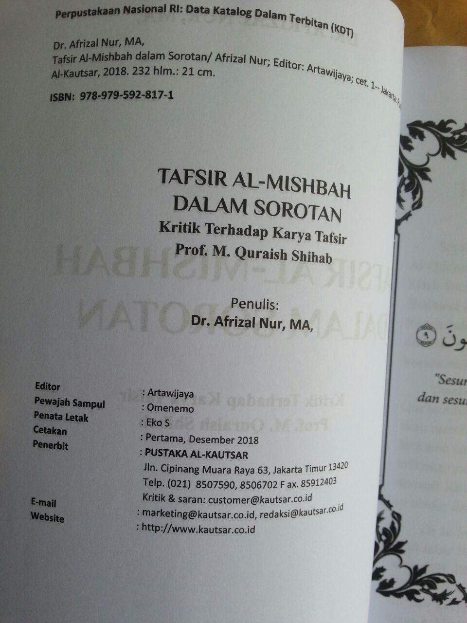 Buku Tafsir Al-Mishbah Dalam Sorotan isi