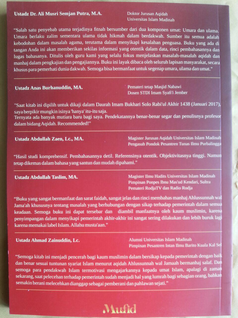 Buku Tindak Tanduk Penguasa Dan Hukum Syariat Rakyat Menghadapinya cover