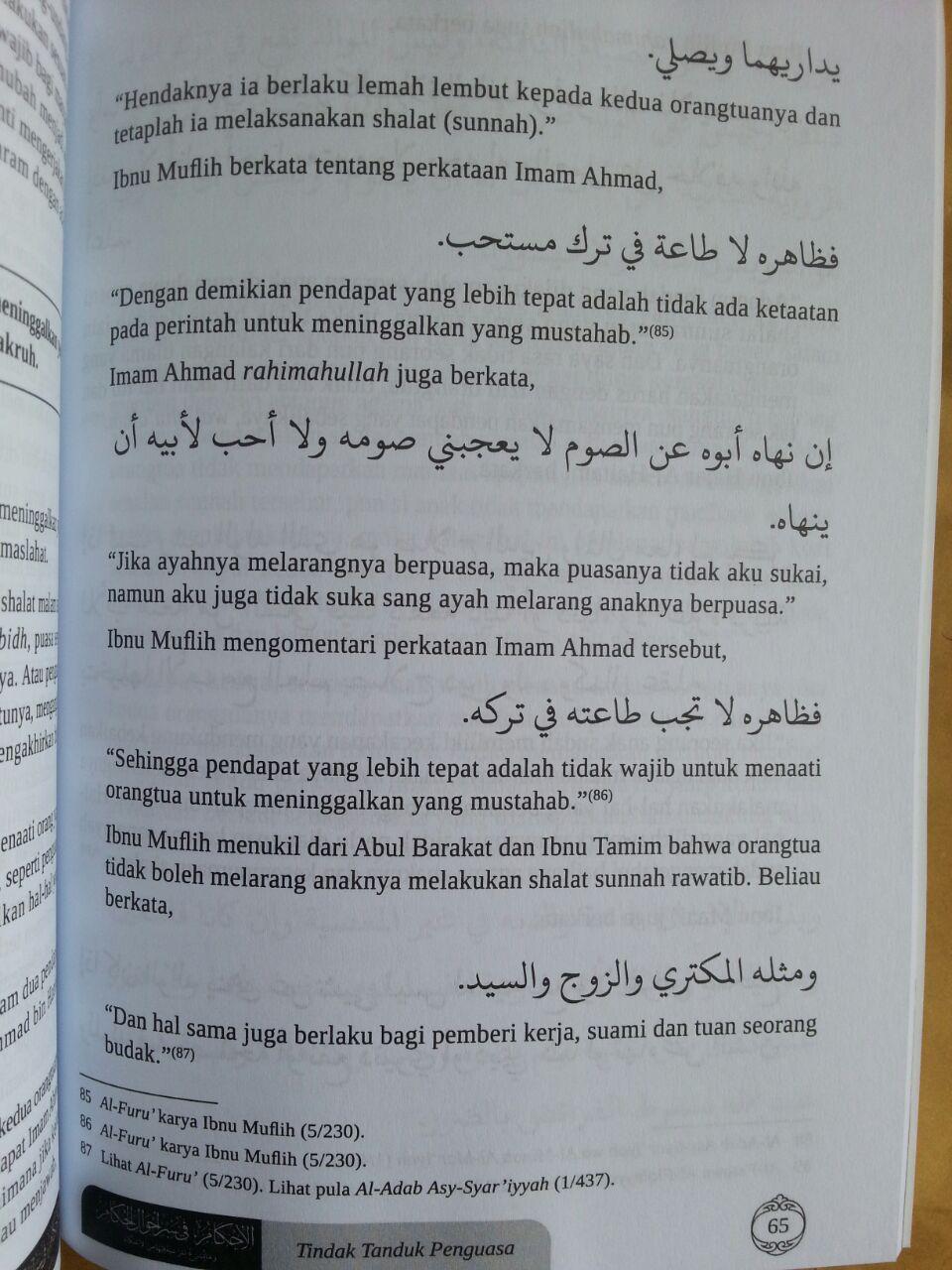Buku Tindak Tanduk Penguasa Dan Hukum Syariat Rakyat Menghadapinya isi 3