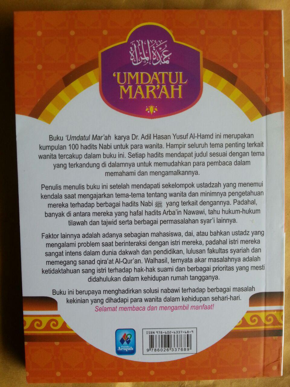 Buku Umdatul Mar'ah 100 Hadits Landasan Hukum Bagi Wanita cover