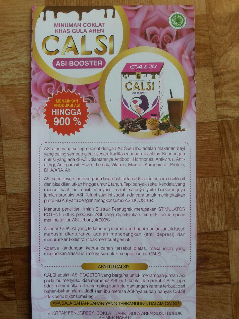 Herbal Calsi Asi Booster Minuman Coklat Khas Gula Aren isi 2