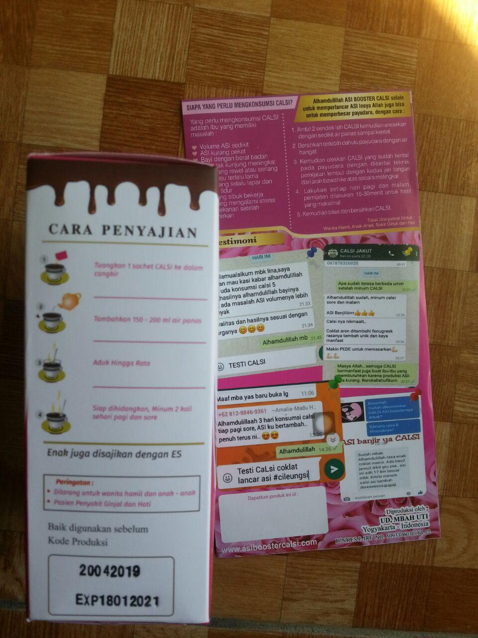 Herbal Calsi Asi Booster Minuman Coklat Khas Gula Aren isi 4