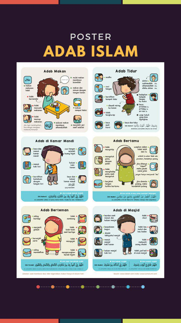 Poster Adab Islam Versi Anak isi