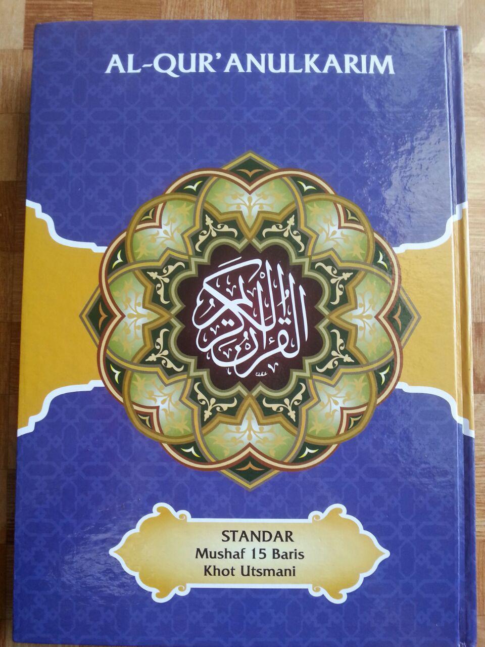 Al-Qur'an Mushaf Lamina Standar Mushaf 15 Baris Khot Utsmani B5 cover