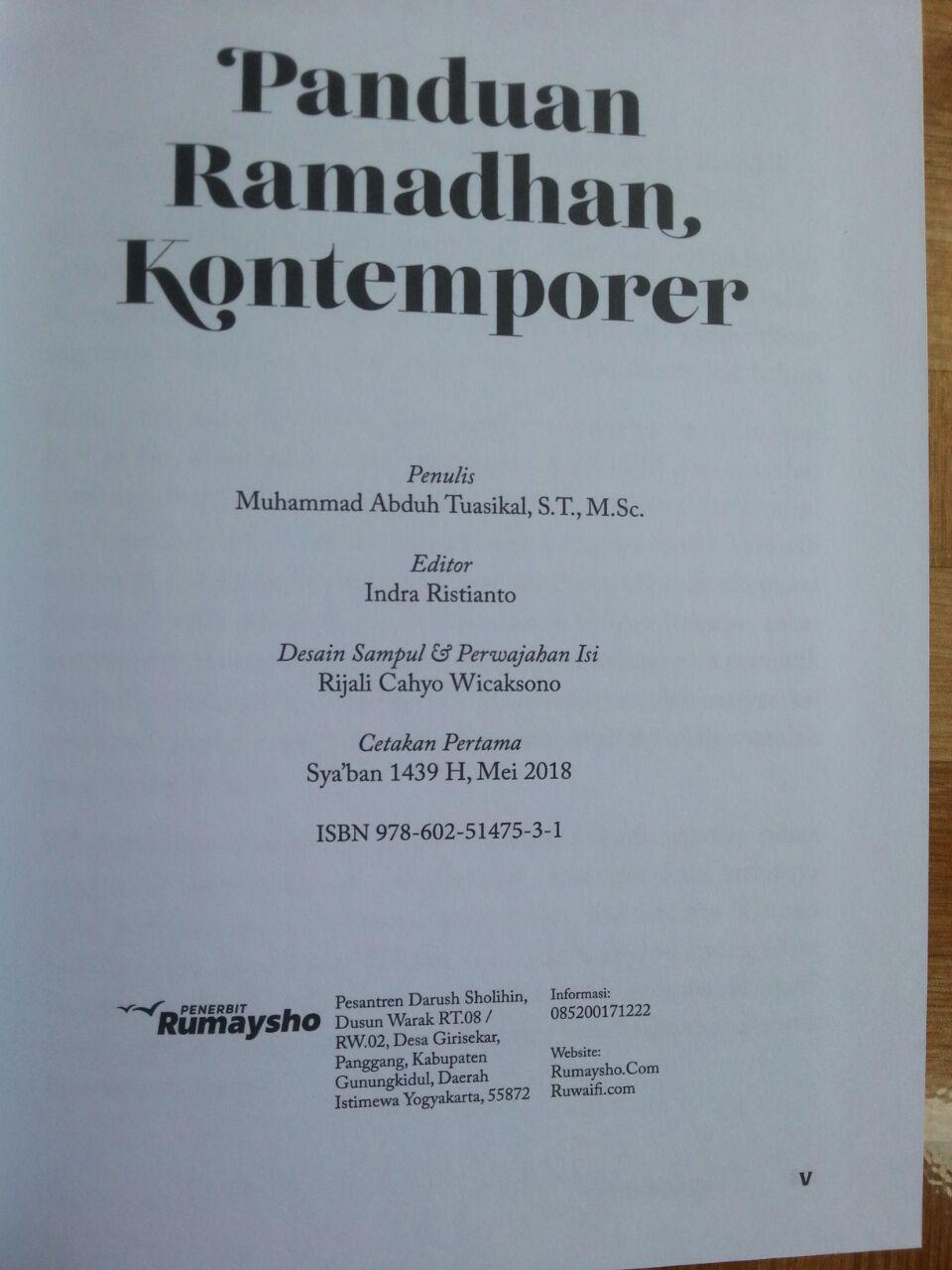 Buku Panduan Ramadhan Kontemporer isi 2