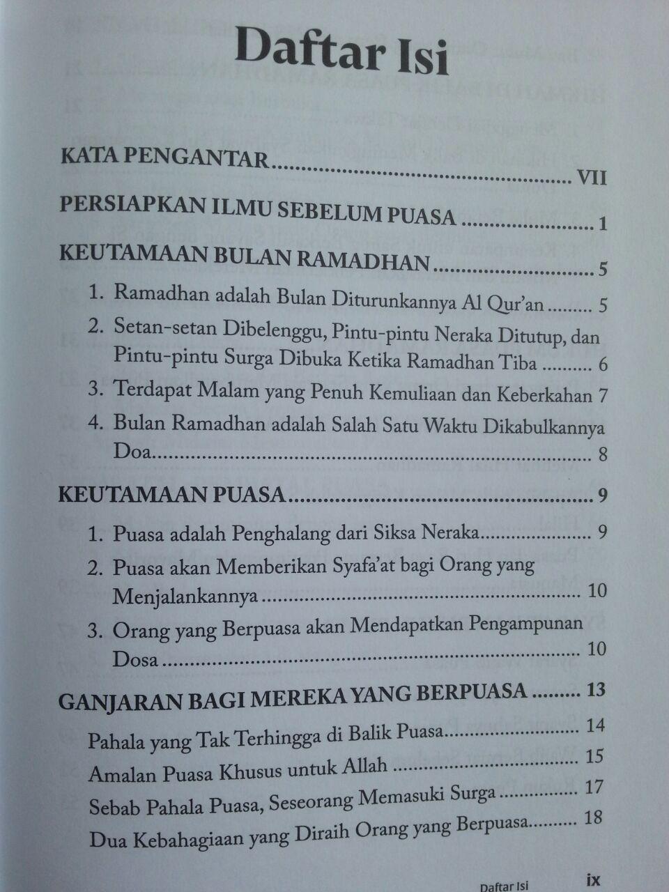 Buku Panduan Ramadhan Kontemporer isi