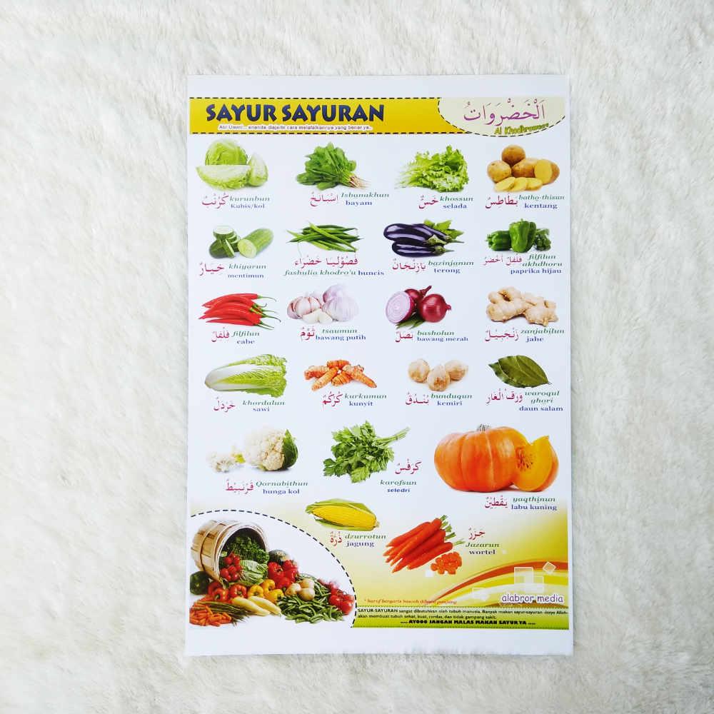 Poster Sayur Sayuran Arab Indonesia