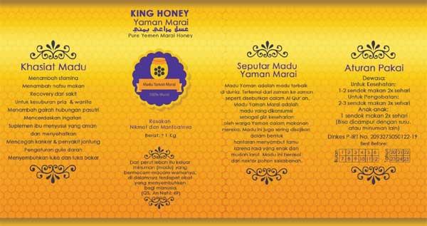 Madu Murni Yaman Marai Label