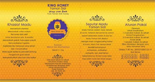 Madu Murni Yaman Sidr Label