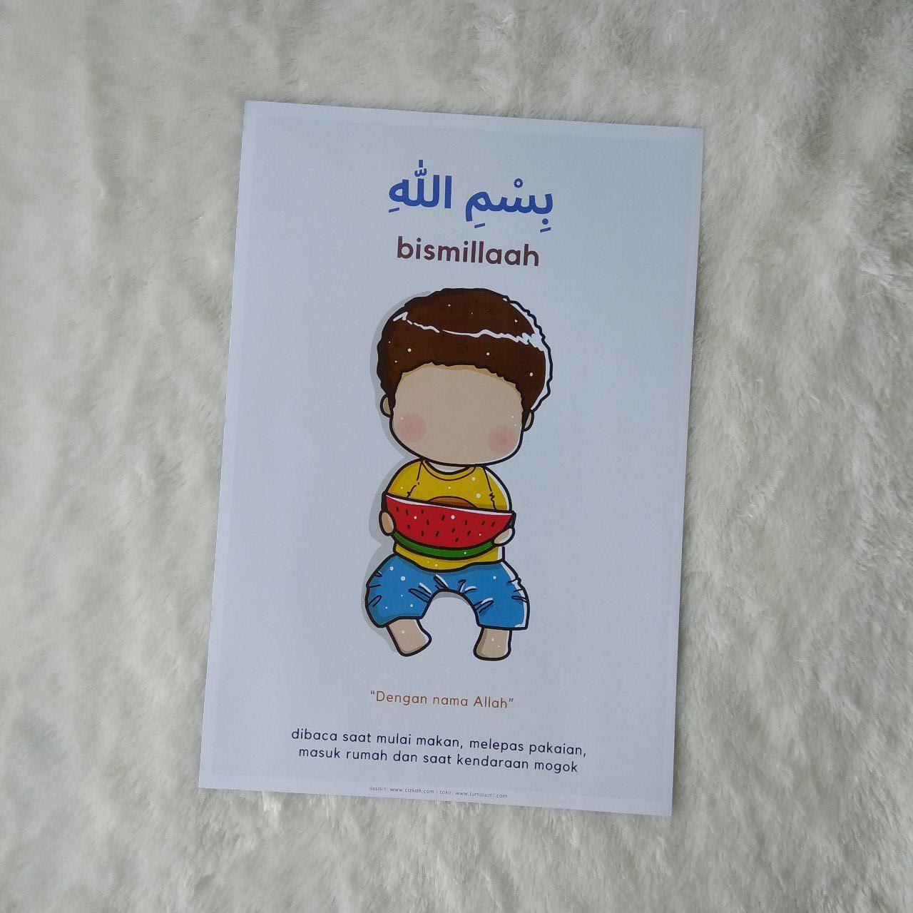 Poster Anak Dzikir Bismillah - Bismillaah