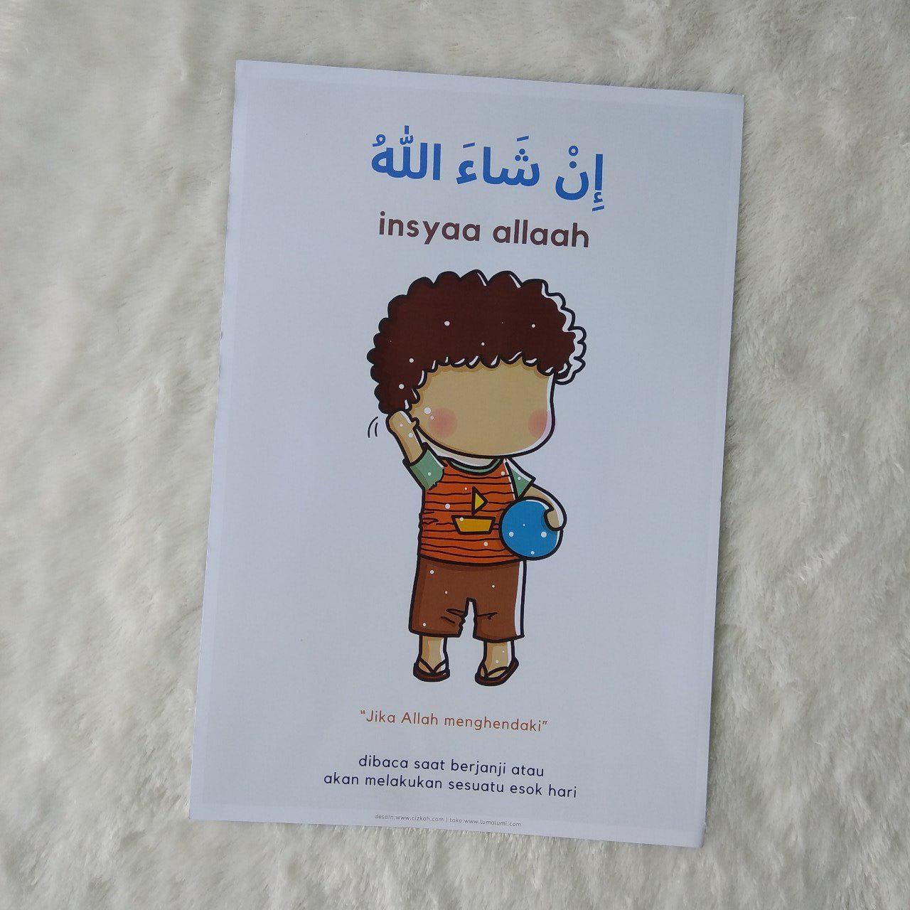 Poster Anak Kalimat Insya Allah - In syaa Allaah