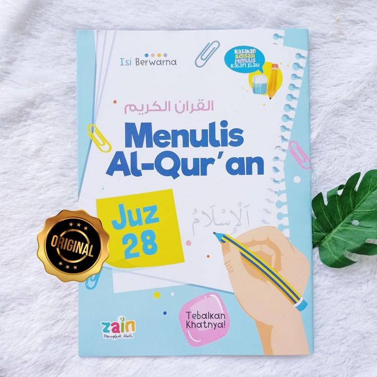 Buku Menulis Al-Qur'an Juz 28 29 30 Berwarna