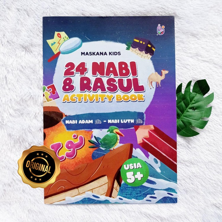 Buku Anak 24 Nabi Dan Rasul Activity Book Plus Map