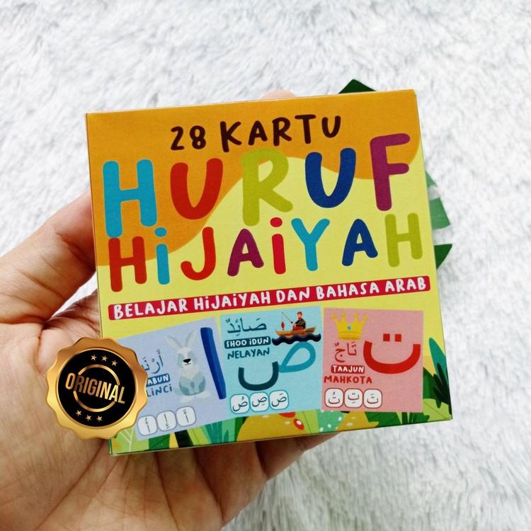 Flash Card 28 Kartu Huruf Hijaiyah Belajar Bahasa Arab