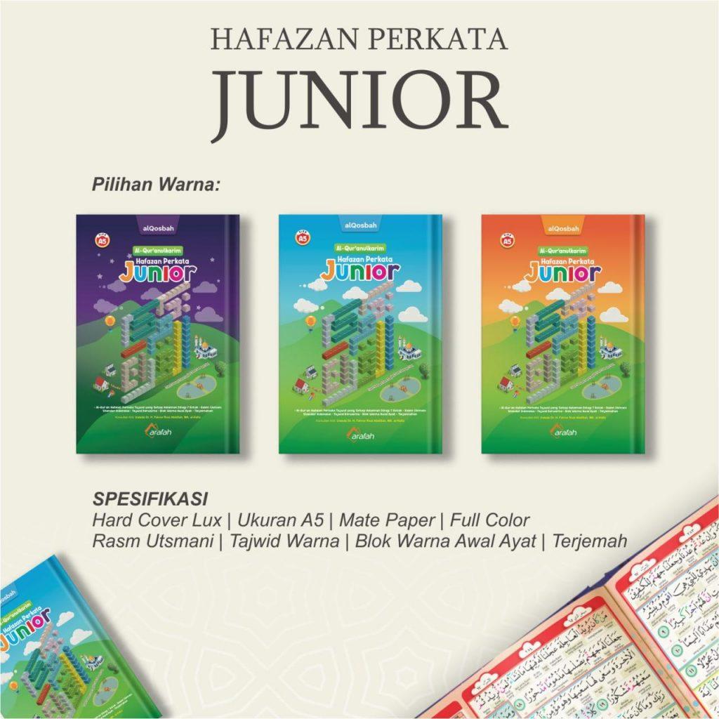 Al-Quran Hafazan Perkata Junior A5 7 Kotak Berwarna Untuk Hafalan