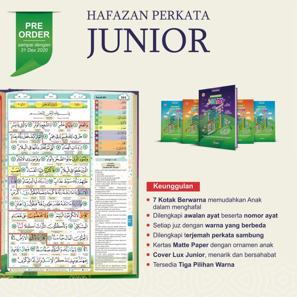 Al-Quran Hafazan Perkata Junior A5 7 Kotak Berwarna Untuk Hafalan 2