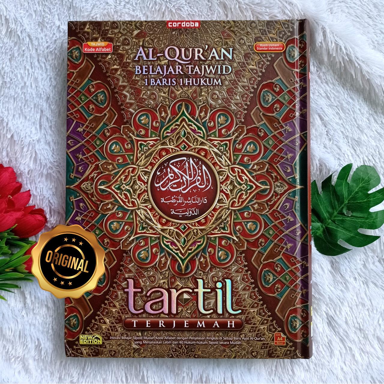 Al-Qur'an Belajar Tajwid 1 Baris Hukum Tartil Terjemah Ukuran A4