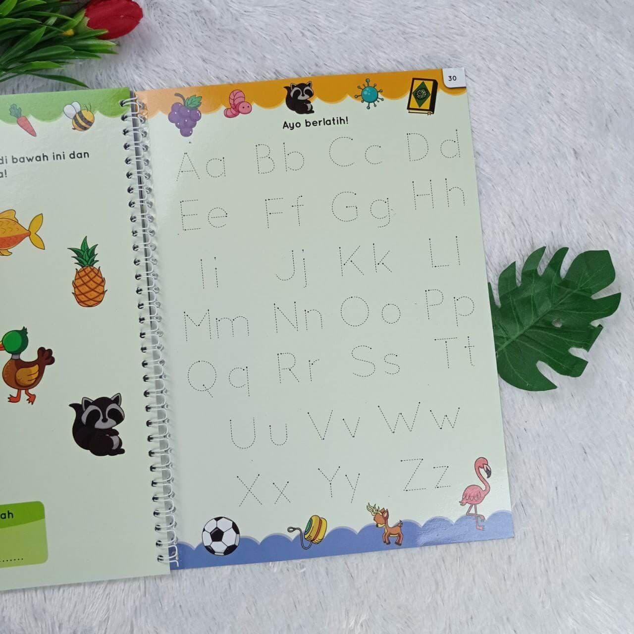 Buku Anak Hapus Tulis Abjad Pertamaku Perkenalan Anak Usia Dini Isi 2