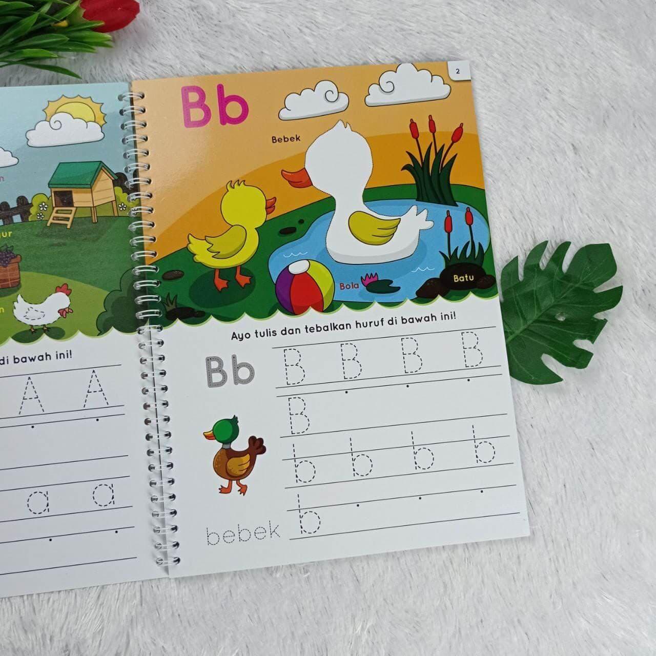 Buku Anak Hapus Tulis Abjad Pertamaku Perkenalan Anak Usia Dini Isi