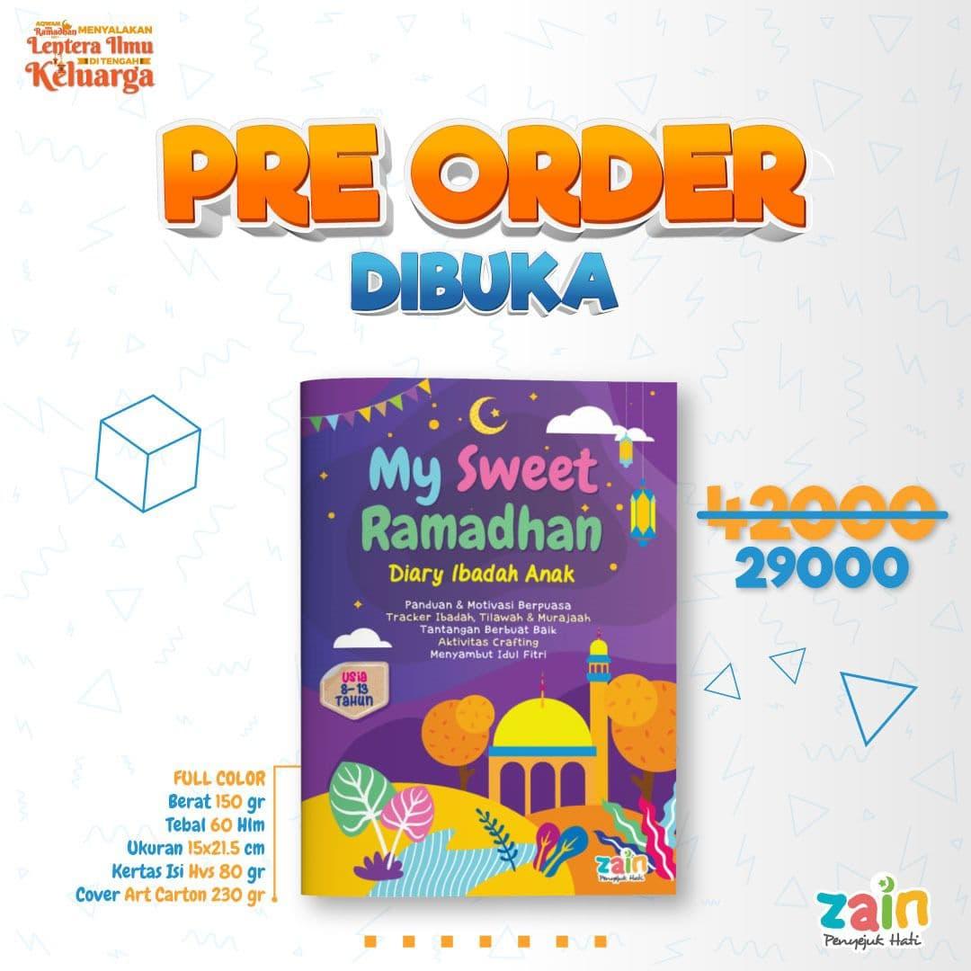 Buku My Sweet Ramadhan Diary Ibadah Anak Panduan Motivasi Berpuasa Pre Order