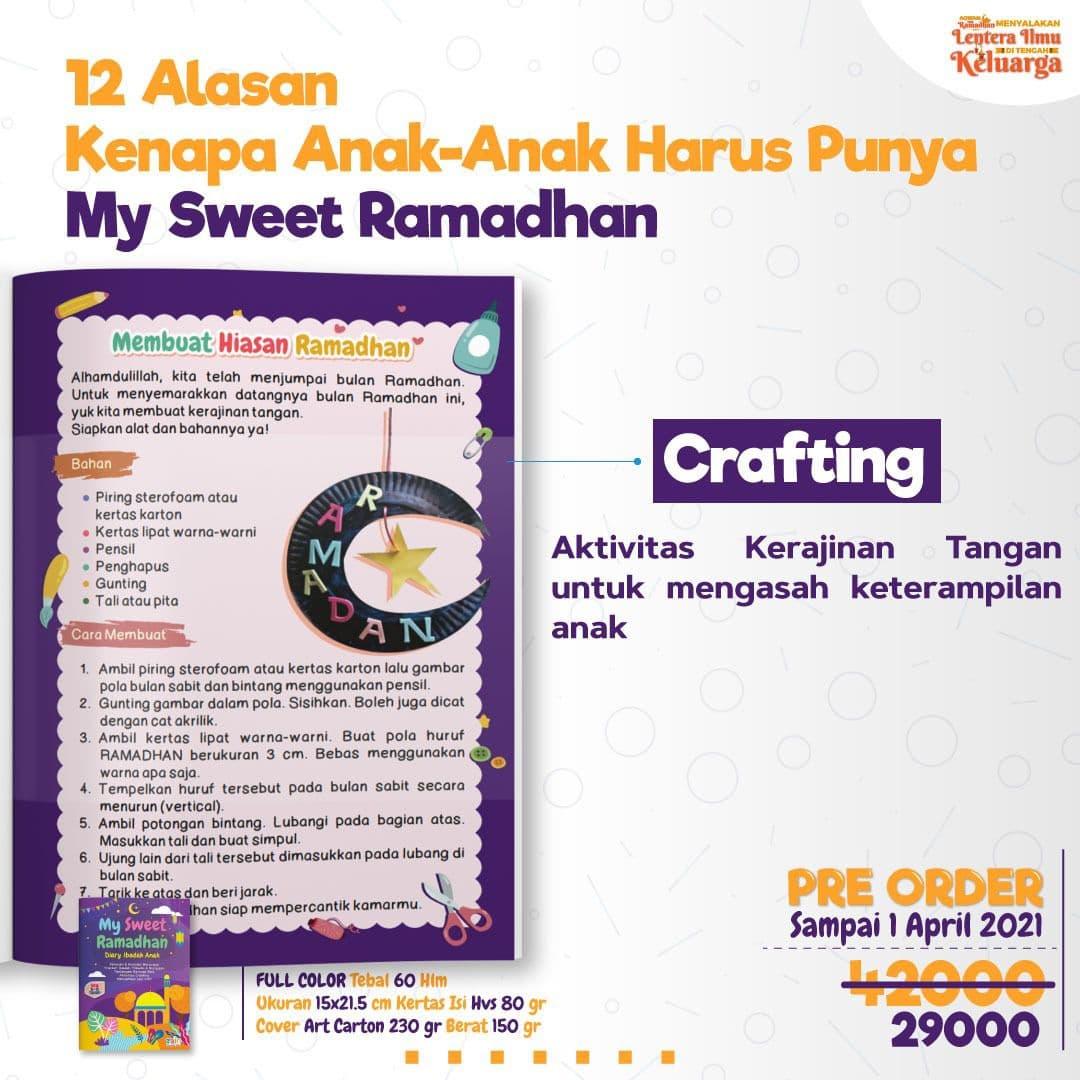 Buku My Sweet Ramadhan Diary Ibadah Anak Panduan Motivasi Berpuasa Isi