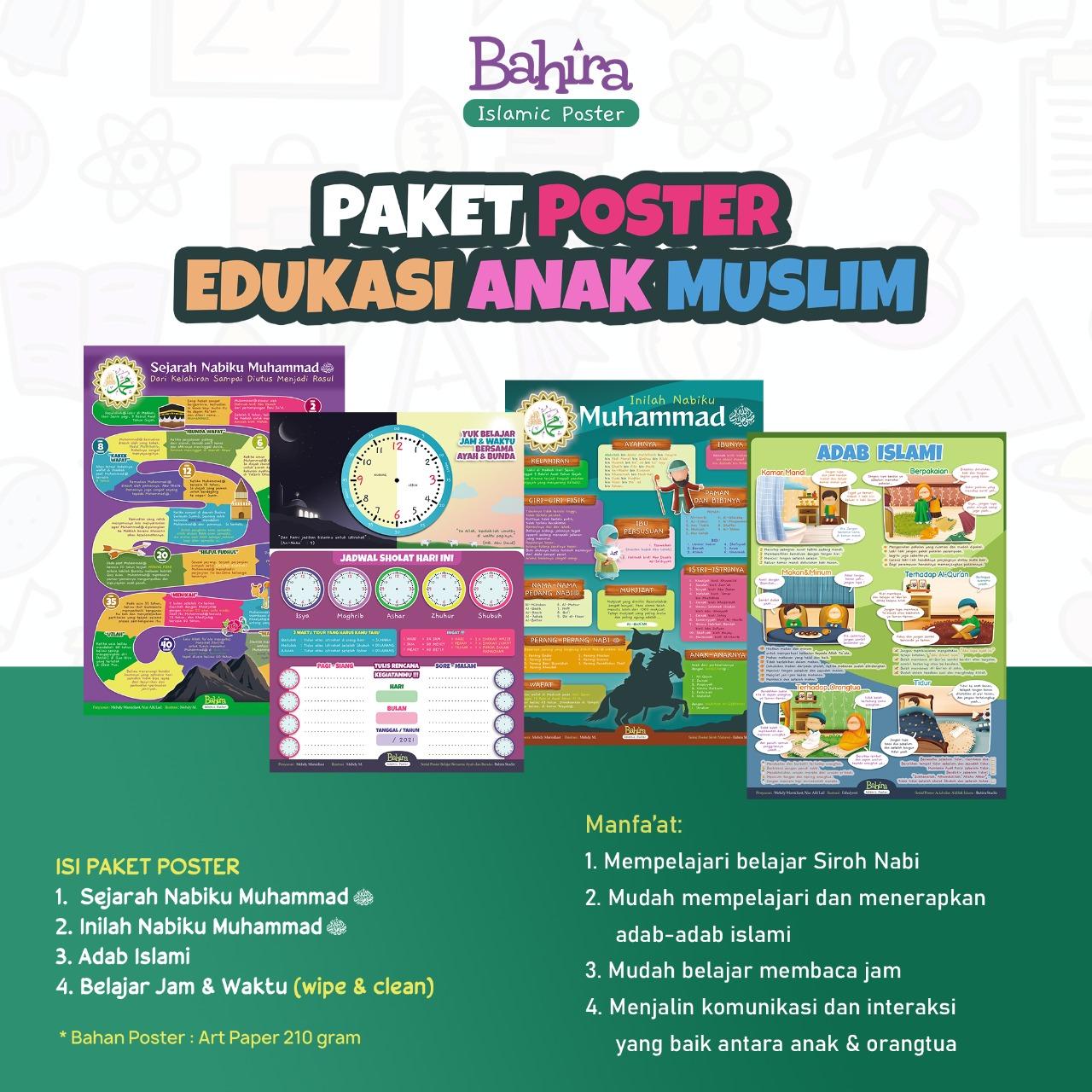 Poster Paket Edukasi Anak Muslim Isi 4 Poster 1