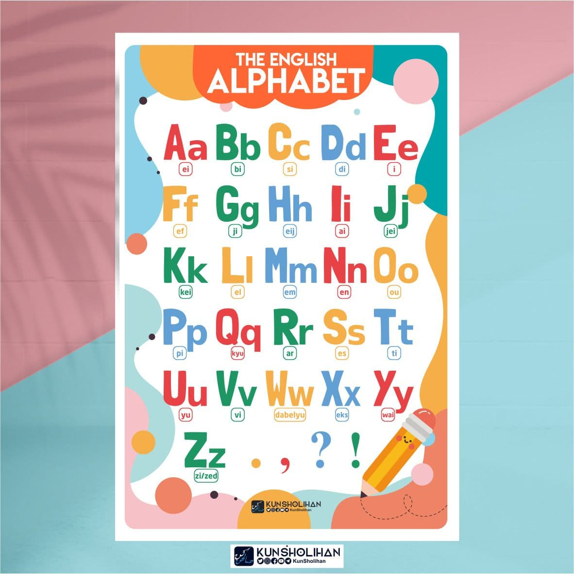 Poster The English Alphabet
